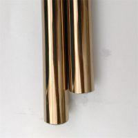 201不锈钢彩色管、30*1.0*6装饰香槟金拉丝圆管