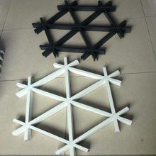 邯郸铝格栅 三角形格栅铝天花 木纹铝格栅 菱形铝格栅