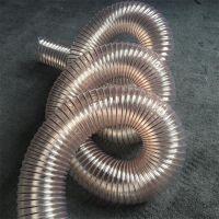 透明耐磨聚氨酯镀铜钢丝伸缩吸尘管 耐高温伸缩管 100*0.9
