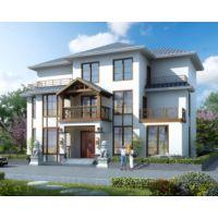 南昌别墅设计AT1786三层现代中式风格带局部地下室复式客厅别墅设计图纸17mX13.7m