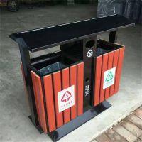 分类木制钢板环保垃圾桶生产厂家