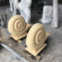 人造砂岩水景雕塑 海螺圆雕喷水装饰喷泉 水景小品动物喷泉