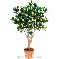 仿真柠檬树盆栽 假柠檬树 仿真植物厂家 专业定制这类假植物盆栽