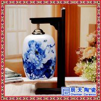 中式复古小台灯 水晶酒店客房卧室床头灯 卧室床头台灯温馨简约现代