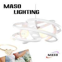 八卦圆形特色现代简约创意时尚条形树脂餐吊灯玛斯欧品牌MS-P1023室内装修灯具