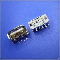厂家批发USB AF 90度10.0 插板卷边4PIN DIP 大电流连接器插座