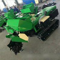 自走式旋耕履带式施肥机 富兴迷你坦克式开沟施肥回填一体机厂家直销