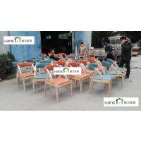 上海韩尔品牌 直销西餐厅HR06实木椅子西餐厅桌椅定做生产