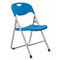 塑料钢管折叠靠背椅子