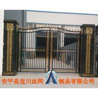 【厂家直销】 宝川品牌铁艺大门,钢材别墅大门,1.8*3m平开门,