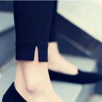 新款九分脚口开叉显瘦打底裤