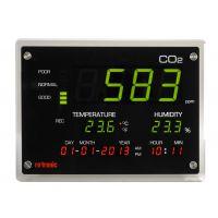 罗卓尼克CO2记录器可直接通过按键进行配置,存储的数据可以导出到U盘