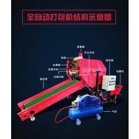 国补农机 秸秆打捆包膜机 青储饲料包膜机