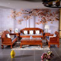 941红木网春季家装节_古典客厅家具沙发 非花七件套