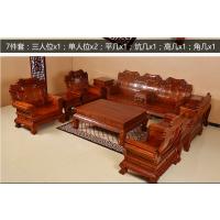爆款正品广作家具刺猬紫檀大象头沙发十件套名琢世家