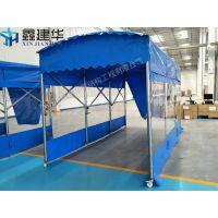 嘉兴海宁伸缩遮阳篷室内隔离篷推拉雨棚布移动折叠帐篷直销
