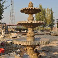 石雕喷泉 厂家供应 汉白玉 黄锈石 石雕喷泉 可定制