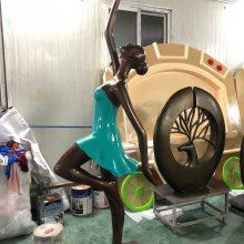 玻璃钢仿真性感拉丁舞女郎雕像树脂彩绘时尚跳舞女性雕塑舞蹈培训中心迎宾形象摆设