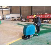 工厂治理地面粉尘有什么好办法?合美手推式电瓶洗地机是