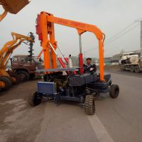高速公路护栏打桩机简易护栏打桩机厂家 直销