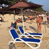 广东塑料沙滩椅批发 海边专用ABS塑料沙滩椅防腐防晒防紫外线