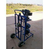 汽油动力 框架式植树挖坑机 小型手持式挖坑机