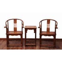 交河老榆木实木椅子三件套家具定做批发