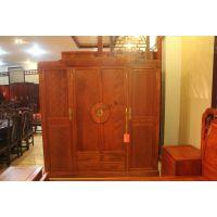 明清古典中式红木大衣柜正品缅甸花梨木四门四抽衣柜大果紫檀衣柜卧室家具