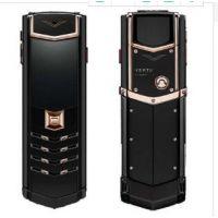 2018年最低威图(VERTU)蓝宝石原装屏 黑金钻 直板威图手机 18K玫瑰金手机
