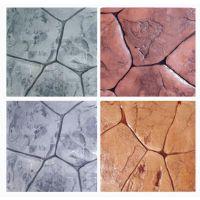 桓石 彩色混凝土压模地坪的做法 压花地坪造价