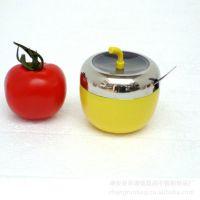 广州厂家供应厨房有盖调味瓶罐、304不锈钢油盐罐调味瓶套装批发定制