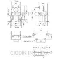 SOFNG TS-1102H 外形尺寸:6.0mm*6.0mm*4.3mm