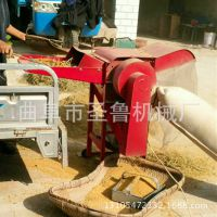 小型打麦子机 家用电脱粒机 圣鲁滚筒式稻麦脱粒机