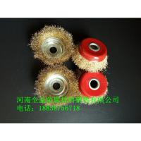 普通碗型钢丝轮100/125型 外径100mm 碗型通用型 打磨除锈