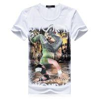 忆惜格罗 2017新款修身跑步短袖运动卡通T恤 速干透气健身服圆领反光条