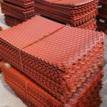 建筑钢板网片规格型号/菱型菱形钢板网片价格/冠成