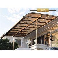 云南楼顶雨棚阳台遮阳棚走廊遮雨蓬铝合金耐力板棚定制批发