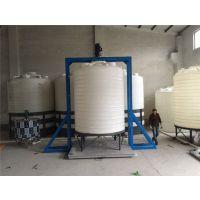 帝豪1立方塑料容器,1000L焊接法兰塑料水箱