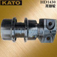 加藤HD1430挖掘机托链轮配件18027299616 加藤1430托带轮