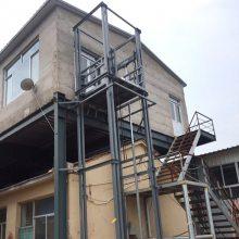 潮州厂家定制室外三层导轨式液压货梯 四柱式电动升降载货平台