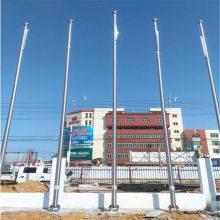 耀恒 优质不锈钢锥形无缠绕电动国旗旗杆 公司旗杆 厂家电话