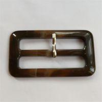 棕色树脂日字扣腰带扣三档扣皮带扣
