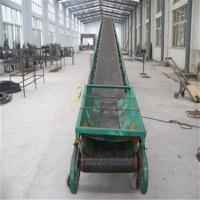 水泥带式输送机视频 兴亚码头箱装物料装卸输送机