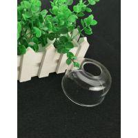 厂家直销人工吹制高硼硅透明圆形玻璃罩