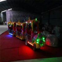 滁州游乐场炫彩游乐设备儿童炫彩古典小火车13座电瓶无轨小火车