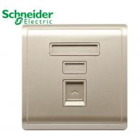施耐德墙壁插座E8231RJS_5_WG 丰尚 保护门超五类信息插座 金