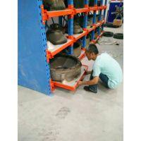 福建抽屉货架 抽拉式模具货架 天车存取 重载4吨模具架