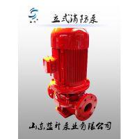 供应山东蓝升牌XBD4.5/5G-L立式单级消防泵高效节能