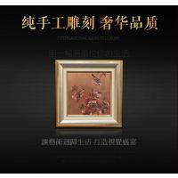 金之幻《花鸟画》铝板彩雕画装饰画工艺画直售批发定制黄铜