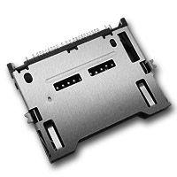 硕方 CS-602 焊接自弹式 六合一连接器卡座